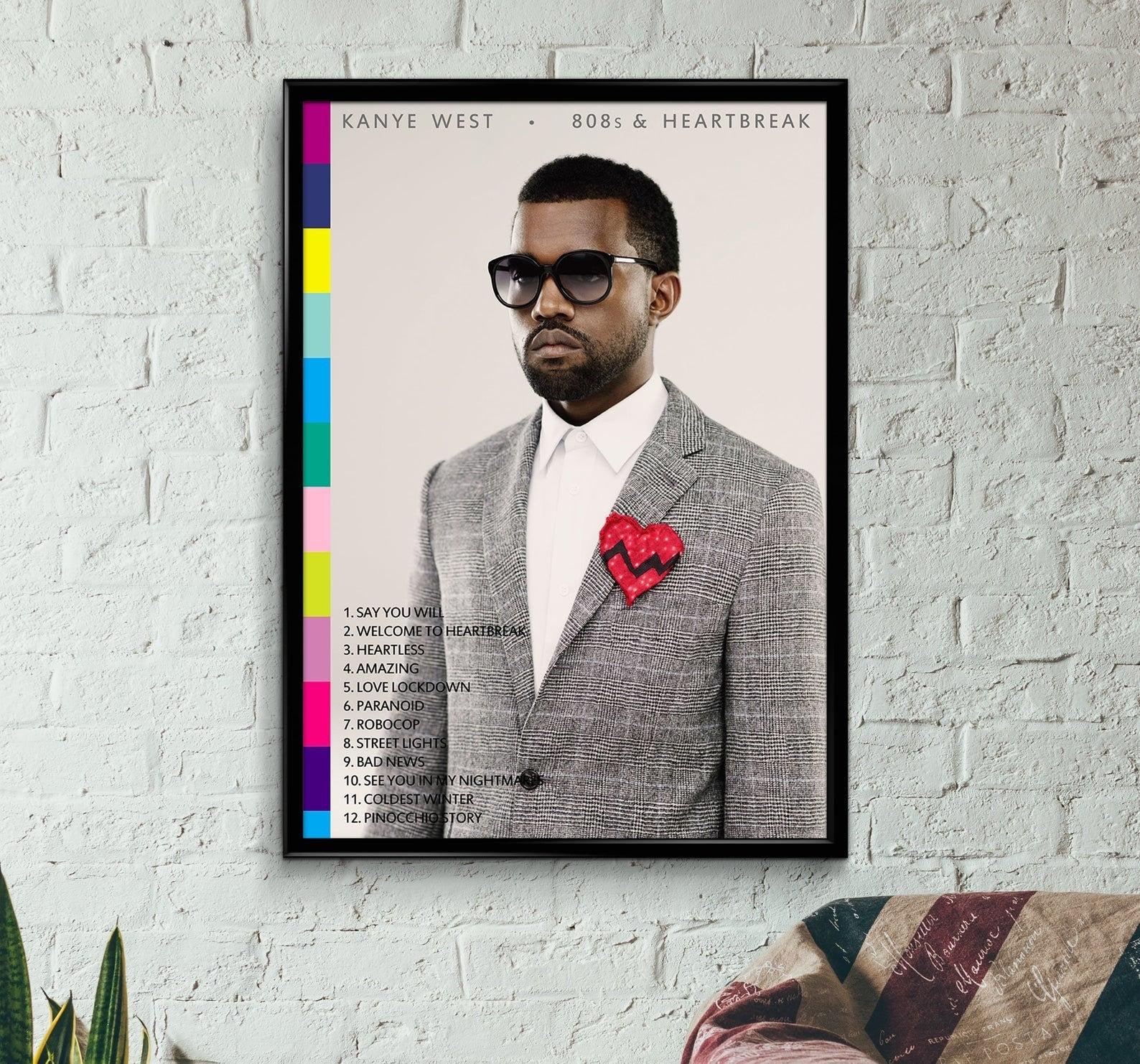 808/'s and Heartbreak Kanye West Art New Print 27x40 24x36 Poster C-921